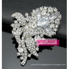 crystal tear drop wedding brooch pin
