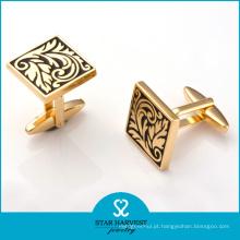 Abotoaduras de cobre de chapeamento de ouro de luxo para a reunião (BC-0014)