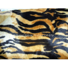 Curto Plush com tigre tatuagem impresso para o cobertor e vestuário