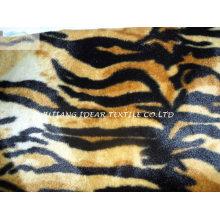 Короткий плюш с тигра татуировки напечатаны для одеяло и швейной