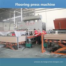 Parkettboden Produktionslinie / Holzbodenplatte Pressmaschine