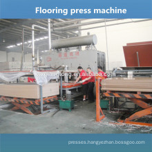 Parquet floor production line / wooden floor panel press machine