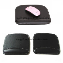 Quality Mouse Pad with Wrist Rest Custom Personalized Black / Brown PU Leather Mouse Pads Wholesale