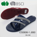 2016 Hot Sale New Style Fashion Ladies Pvc Slippers
