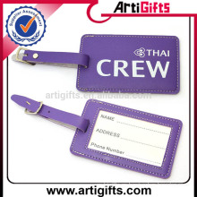 Etiqueta de equipaje de cuero repujado de buena calidad
