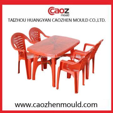 Chaise à bras injecté en plastique / moule de table rectangulaire