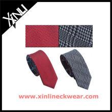 Wholesale Plain Checkers Reversible Krawatte für Männer Seidenkrawatten