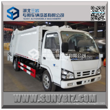 3 Cubic 4cubic 5cubic Isuzu 600p 4X2 Compactor Garbage Truck