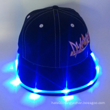LED embroidery snapback cap