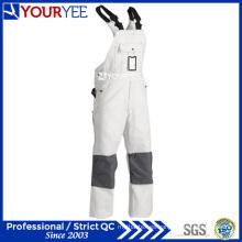 Personalizado pintores blanco de una pieza desgaste de trabajo babero en general (YBD121)