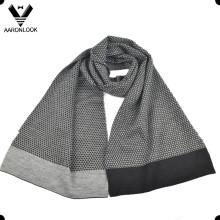 Mode Jacquard 30% Laine 70% Écharpe en acrylique pour hommes en hiver
