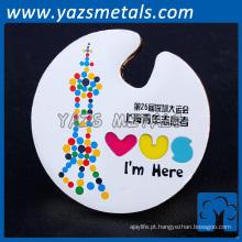 Emblema personalizado de lembrança de aniversário de lembrança / crachá de metal