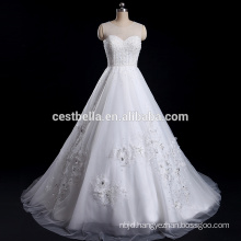 Luxurious Ball Gown Dress with Heavy Beads Sweetheart Ivory Classical Custom-made Wedding Dress
