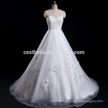 Роскошный бальное платье тяжелые бисером милая Кот классический обычай-сделал свадебное платье