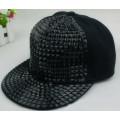 2014 New Arrive Fashion punk rivets hip hop flat brim baseball caps peaked hats Snapback caps for man and woman