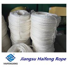 Corde d'amarrage de corde de filament de polypropylène de 3 brins