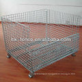 40''x48''x42'' Hot Dipped Galvanized Collapsible Wire Container With Wooden Pallet