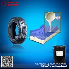 Addition cure silicone rubber for tire mold