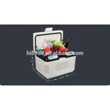 HF-15L (105) DC 12 V / AC 220 V voiture réfrigérateur voiture refroidisseur mini portable maison et voiture double usage voiture réfrigérateur (certificat CE)