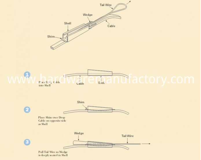 Drop Wire Clamp Detailed Drawing