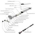 Type de connexion 0.6m 1.2m 1.5m IP65 Tri-Proof LED Lighting