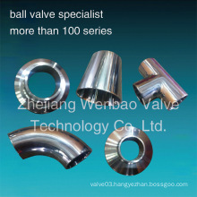 Sanitary Stainless Steel Pipe Fittings Tee Elbow Reducer Union