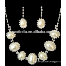 Wholesale White Pearl Accessories Bridal Jewelry Necklace Earring