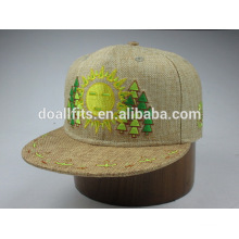 6panel com emboridery ajustado bucker snapback cap fabricado na china