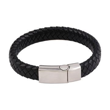 bracelet-44 Xuping bracelet en cuir de bijoux en acier inoxydable de conception de mode simple pour hommes