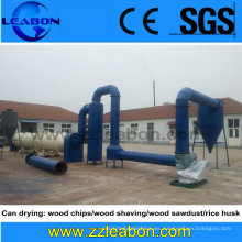 Secador de aserrín de tambor rotatorio de alta temperatura del cilindro
