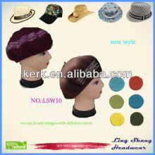 LSW10 Ningbo Lingshang nuevo diseño hecho a medida de lana sombrero y tapa