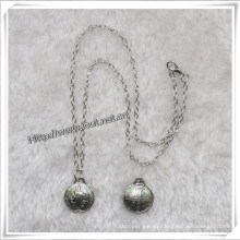 Silver Metal Rosary Necklace, Religious Necklace (IO-an086)