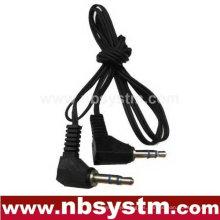 Enchufe estéreo de 3.5mm al enchufe estéreo de 3.5mm cable de audio ángulo recto