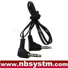 Prise stéréo 3,5 mm à 3,5 mm fiche stéréo câble audio angle droit