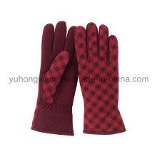 Lady Warm Single Layer Polar Fleece Printing Gloves/Mittens