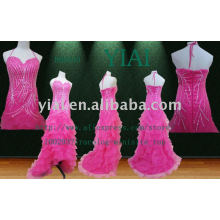 2011 Fashion Custom Tafetá NOITE Vestido HH0040