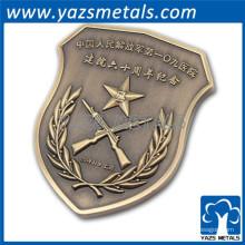O escudo personalizado desafio moeda moeda de metal personalizado