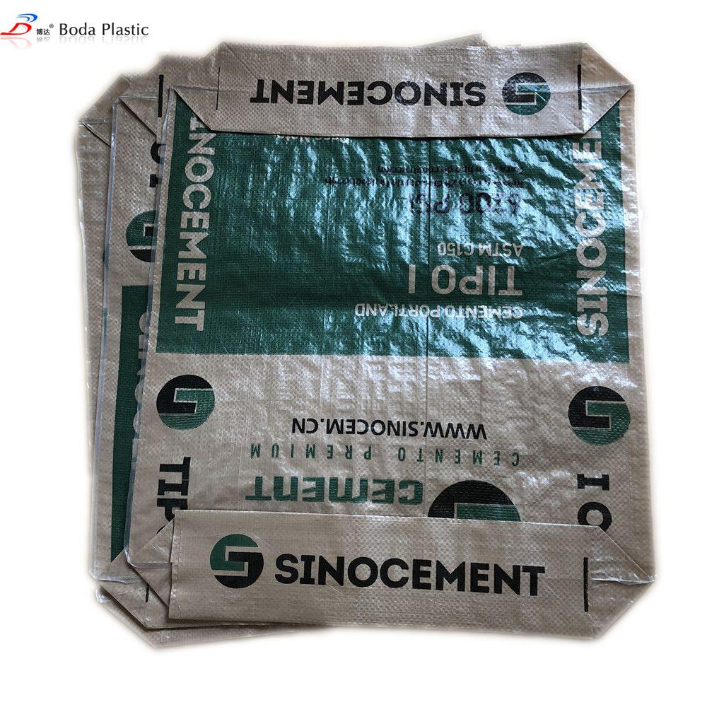 square bottom bag cement woven polypropylene valve bag