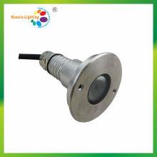Lumière crue de l'acier inoxydable LED de l'acier inoxydable 3W, lumière sous-marine