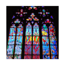Popular Chinese Building Stained Church Glass  Stained Glass Window