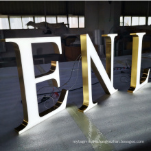 Outdoor frontlit 3d resin lighting channel letter led sign  wall mounted