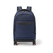 Traveller hotel luggage wheeling trolley, men women international polo pilot trolley bag backpack with wheels