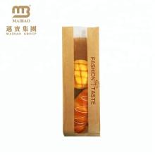 Saco de papel impresso personalizado costume do naco do pão do empacotamento de alimento de Eco para o pão caseiro