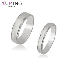 R-71 Xuping suministros de joyería al por mayor ajuste de anillo de oro blanco + material de acero inoxidable de color plata joyas al por mayor