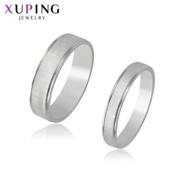 R-71 Xuping atacado jóias suprimentos anel de ajuste de ouro branco + cor prata material de aço inoxidável jóias joyas al por mayor