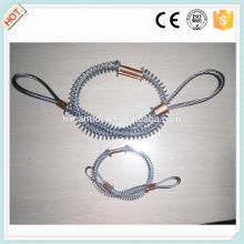 Cable de seguridad de látigo de acero inoxidable / acero al carbono con hebilla de cobre