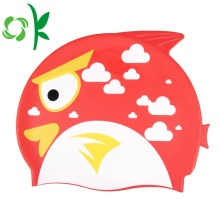 Silicone Swim Funny Red Pattern Hat for Kids