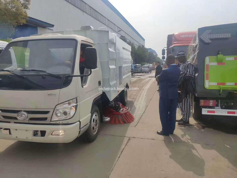 road sweep truck customer visit 3