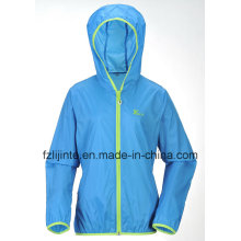 Women′s Hooded Lightweight Windbreaker