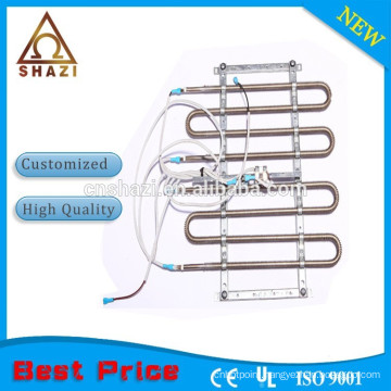 Electric heating element with thermostat